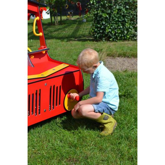 Igraonica kućica Traktor crveni