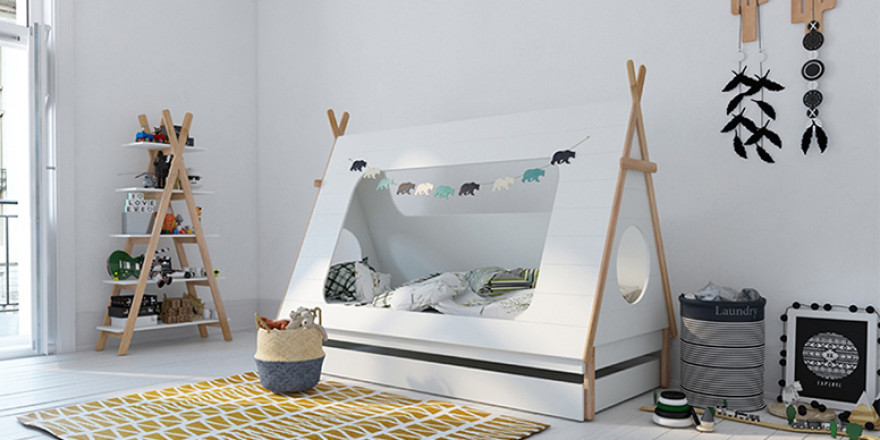 Tipi bed concrete grey